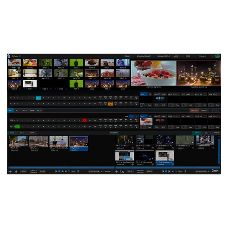 Tricaster-NewTeck broadcast live streaming